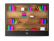 Tableta en el fondo blanco Imagen de archivo