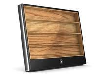 Tableta en el fondo blanco Foto de archivo libre de regalías