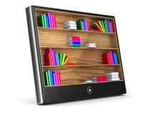 Tableta en el fondo blanco Imagen de archivo libre de regalías