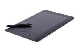 Tableta gráfica aislada en el fondo blanco Imagen de archivo