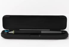 Tableta gráfica de la pluma en el fondo blanco Fotos de archivo