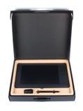 Tableta gráfica embalada aislada en el fondo blanco Fotografía de archivo libre de regalías