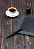 Tableta gráfica y accesorios Foto de archivo
