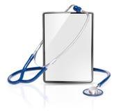 Tableta médica en blanco foto de archivo libre de regalías
