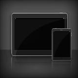 Tableta moderna realista en negro ilustración del vector