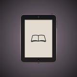 Tableta negra con el icono Imagenes de archivo