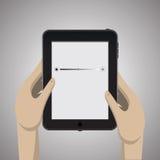 Tableta negra con el icono libre illustration