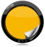 Tableta redonda aislada en blanco Imágenes de archivo libres de regalías