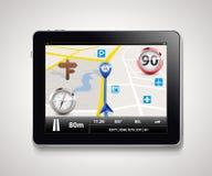 Tableta - sistema de navegación ilustración del vector