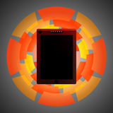 Tableta, teléfono 5 Foto de archivo