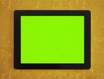 Tableta verde de la pantalla fotografía de archivo
