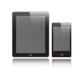 Tableta y móvil verticales Stock de ilustración