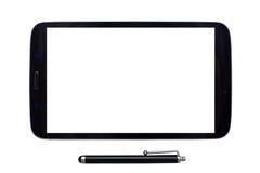 Tableta y aguja con la pantalla en blanco Imagen de archivo