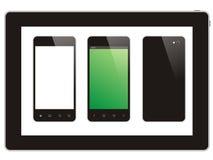 Tableta y teléfono elegante fotos de archivo libres de regalías