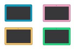 Tabletas coloreadas en blanco Fotos de archivo libres de regalías