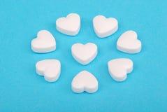 Tabletas como corazón Foto de archivo