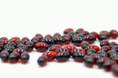 Tabletas del rojo de la medicina Foto de archivo