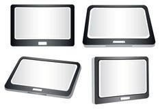 Tabletas en el ejemplo del vector de las distintas vistas Fotografía de archivo