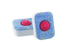 Tabletas para la lavadora del plato foto de archivo libre de regalías