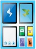 Tabletas y smartphones fijados Imagen de archivo libre de regalías