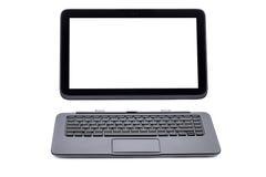 Tabletcomputer en toetsenbord royalty-vrije stock foto