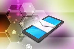 Tabletcomputer met e - post Stock Fotografie