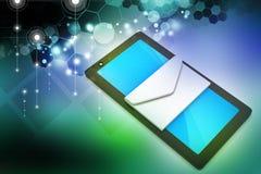 Tabletcomputer met e - post Royalty-vrije Stock Afbeelding