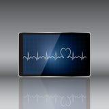 Tabletcomputer met medisch concept Royalty-vrije Stock Afbeeldingen