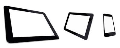 Tabletcomputer, minitablet en smartphone  Royalty-vrije Stock Foto's