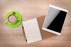 Tabletdator med den blanka skärmen Royaltyfria Bilder