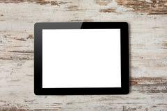 Tabletdator med den isolerade skärmen royaltyfria foton
