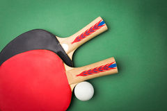 Tabletennis racket and ball Royalty Free Stock Image