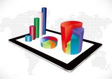 Tabletgrafiek Stock Foto