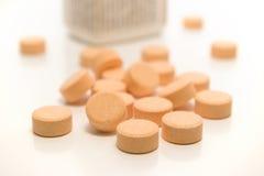 tabletki butelek Zdjęcie Stock