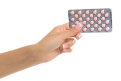tabletki gospodarstwa Zdjęcia Stock