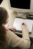 tabletki grafiki pionowe Zdjęcia Royalty Free