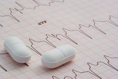 tabletki na serce Zdjęcie Stock