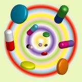tabletki tabletek royalty ilustracja