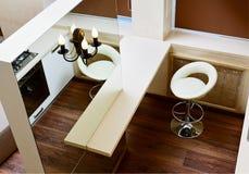 Tabletop καθρεφτών και ράβδων τοίχων τοπ όψη Στοκ Εικόνες
