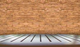 Tabletop με το τούβλο Στοκ Εικόνα