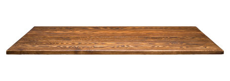 Tabletop που απομονώνεται ξύλινο Στοκ Εικόνα