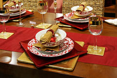 tabletop Χριστουγέννων στοκ φωτογραφία με δικαίωμα ελεύθερης χρήσης