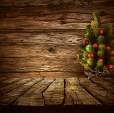 Tabletop with Christmas tree Stock Photography