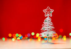 Tabletop Christmas tree Royalty Free Stock Image