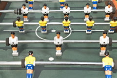 Tabletop football figures Royalty Free Stock Photography