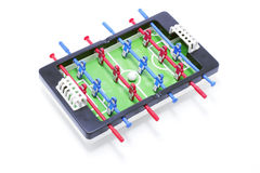Tabletop Football Game. Drop out on white background royalty free stock photography