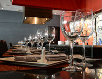 Tabletop in restaurant Royalty Free Stock Images