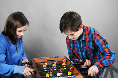 Tabletop soccer Stock Photography