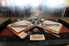 Tabletop w Azjatyckiej restauraci Fotografia Stock