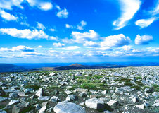 Tabletopberg i Wales Arkivbilder